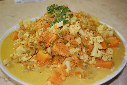 קארי גובי- תבשיל ירקות ותבלינים הודים
